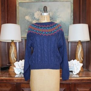 Vintage 1990's Navy Blue Sweater